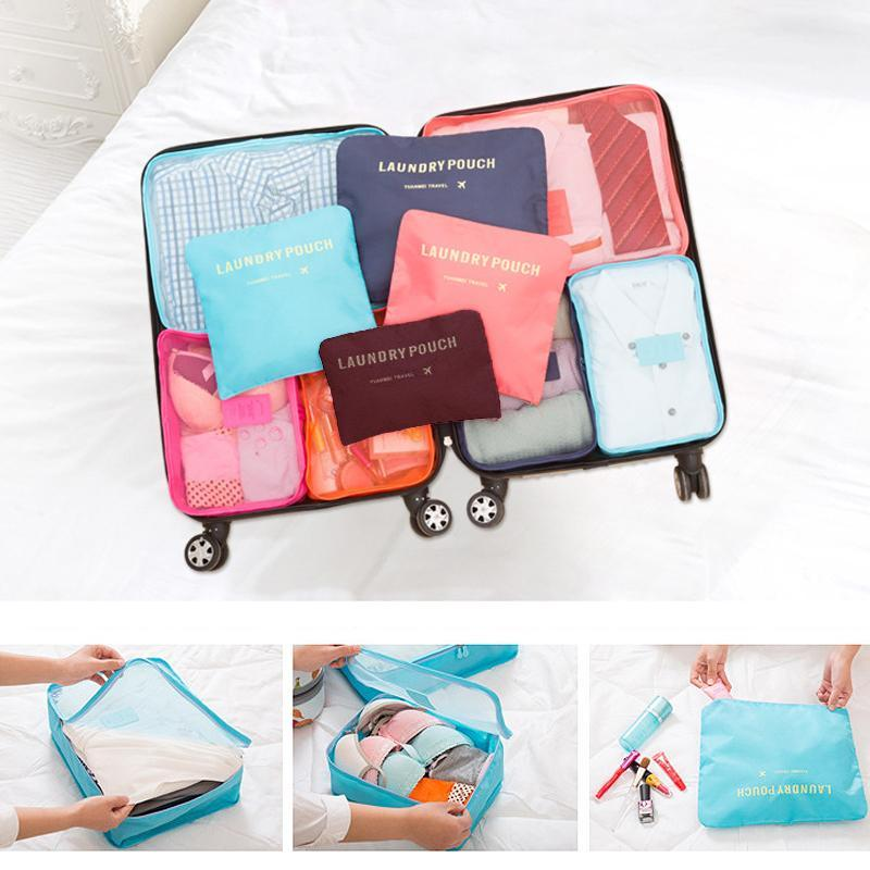6 Pieces of Portable Luggage Packing Bages