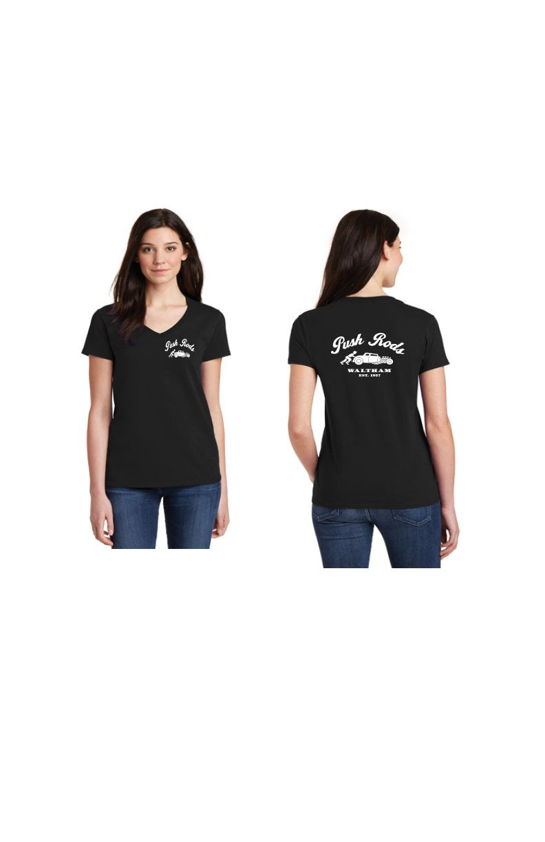 Push Rod Ladies V-Neck Tee