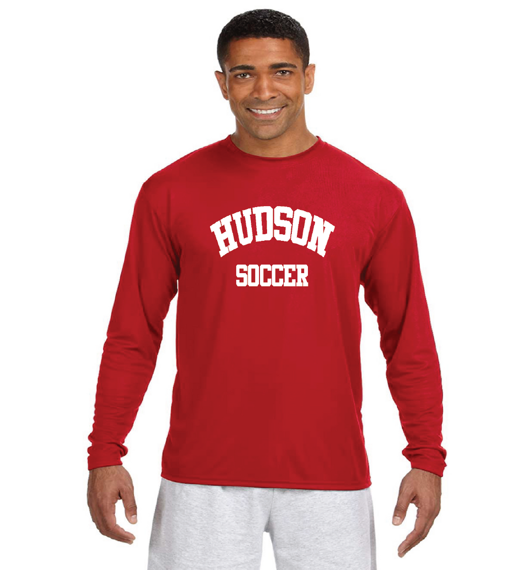 Red Hudson Soccer Long Sleeve Tee