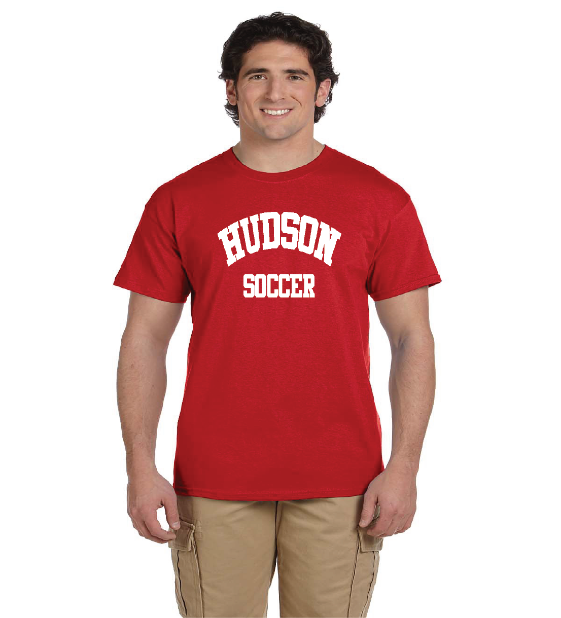 Red Hudson Soccer Short Sleeve Tee