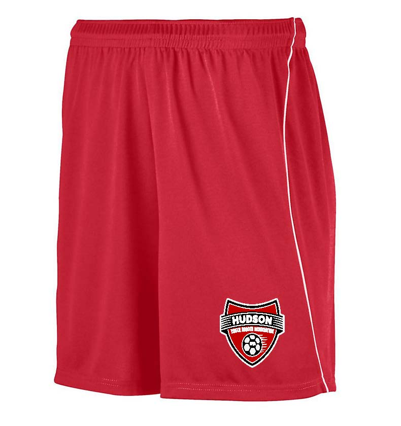 Red Hudson Youth Soccer Shorts