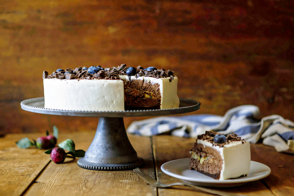 BBCC - Blueberry Chocolate Chip Mousse Cake