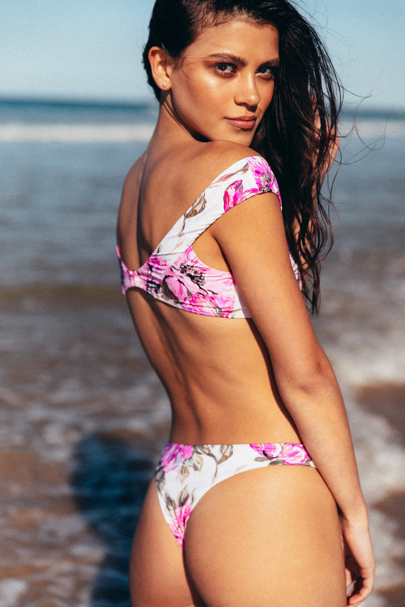 Scarlett Top - Tropical Violet -Top- White Sands Swim by Leah Madden