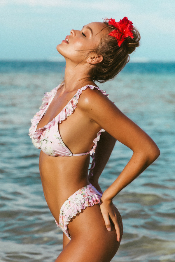 Lou Lou Top - Blush Rose -Bikini- White Sands Swimwear by Leah Madden