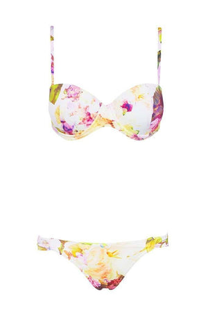 Gracie Pant - Dripping Floral -Separates- White Sands Swimwear by Leah Madden
