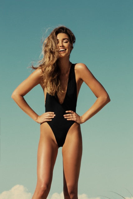 Playa Maillot - Black -Maillot- White Sands Swim by Leah Madden
