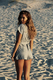 Manelle Playsuit - Chambray - Resortwear - White Sands Swimwear Australian Cheeky Bikinis  - 1
