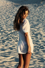 Kate Shirt Dress -Resortwear- White Sands Swimwear by Leah Madden