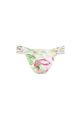 Avril Pant - Waterlily Print -Bikini- White Sands Swimwear by Leah Madden