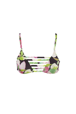 Avril Top - Nightlily Print -Bikini- White Sands Swim by Leah Madden
