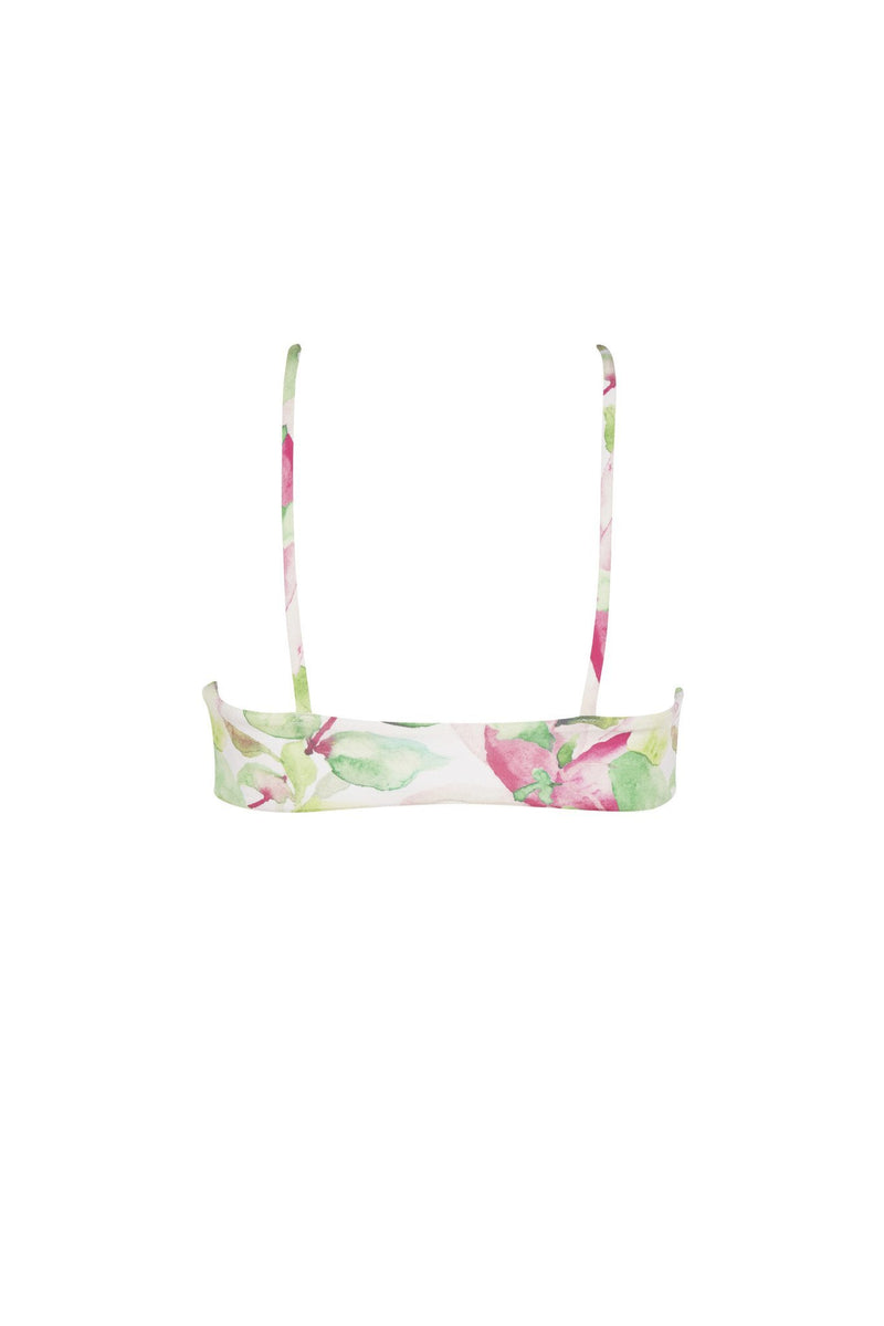 Avril Top - Waterlily Print -Bikini- White Sands Swim by Leah Madden