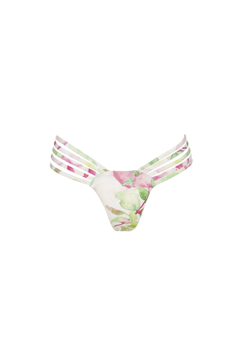 Avril Pant - Waterlily Print -Bikini- White Sands Australian Designer Swimwear