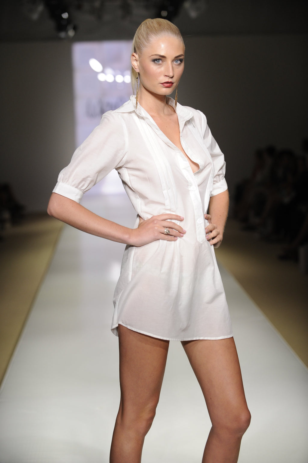 Silk-Cotton T-Shirt Dress -Clothing- White Sands Swim by Leah Madden