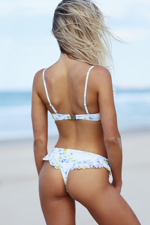 Phoebe Pant - Clematis Print -Bikini- White Sands Swimwear by Leah Madden
