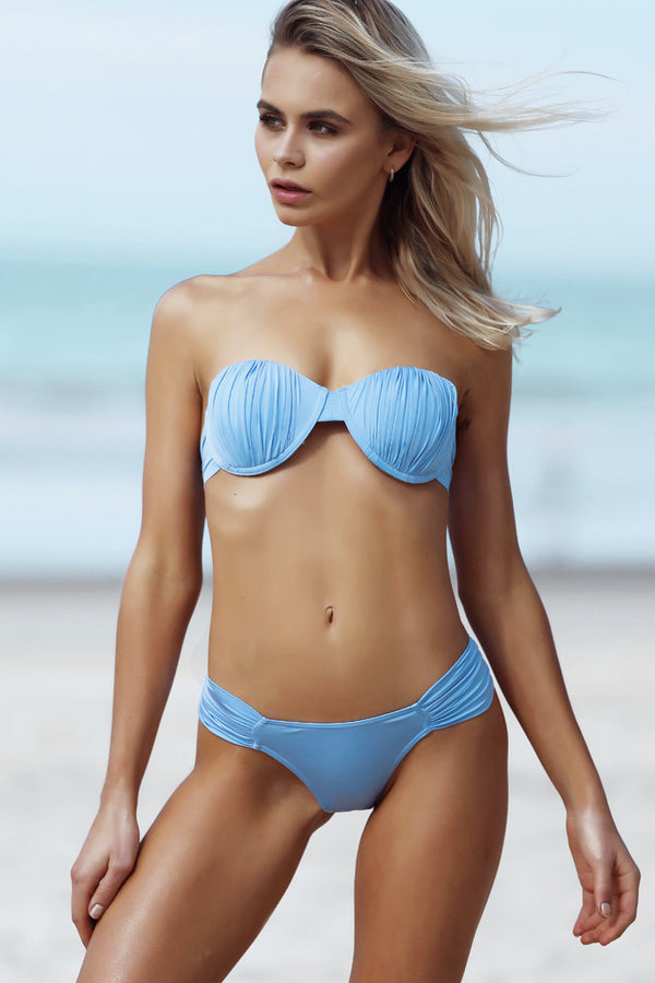 Gracie Top - Bluebell -Bikini- White Sands Swimwear by Leah Madden
