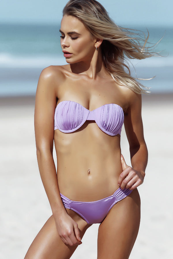 Gracie Top - Orchid -- White Sands Swimwear by Leah Madden