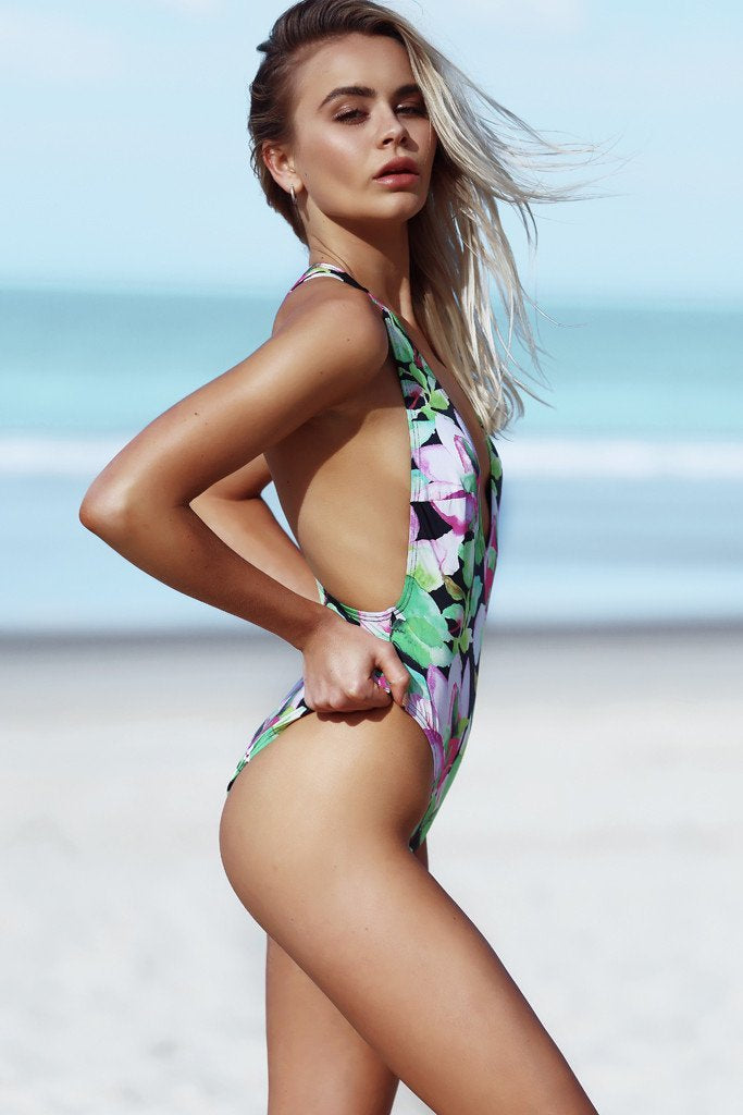 Veronica Maillot - Nightlily -Maillot- White Sands Swimwear by Leah Madden
