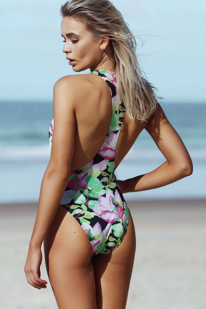 Veronica Maillot - Nightlily -Maillot- White Sands Swim by Leah Madden