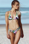 Avril Pant - Nightlily Print -Bikini- White Sands Australian Designer Swimwear