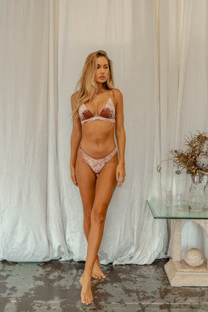 Hayman Top - Rosé Velvet -Top- White Sands Swim by Leah Madden