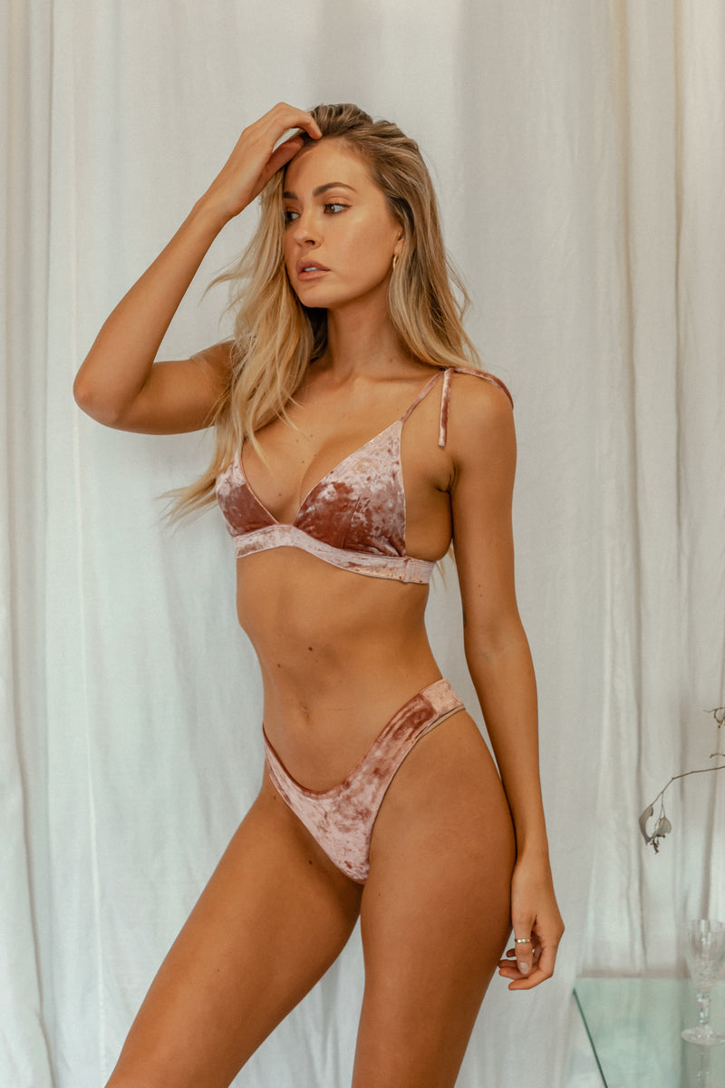 Hayman Top - Rosé Velvet -Top- White Sands Swimwear by Leah Madden