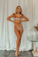Byron Thong - Rosé Velvet -Separates- White Sands Swimwear by Leah Madden