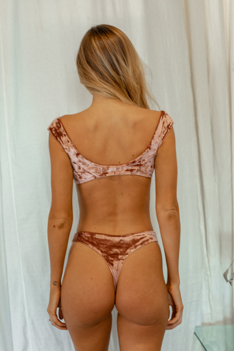 Byron Thong - Rosé Velvet -Separates- White Sands Swim by Leah Madden