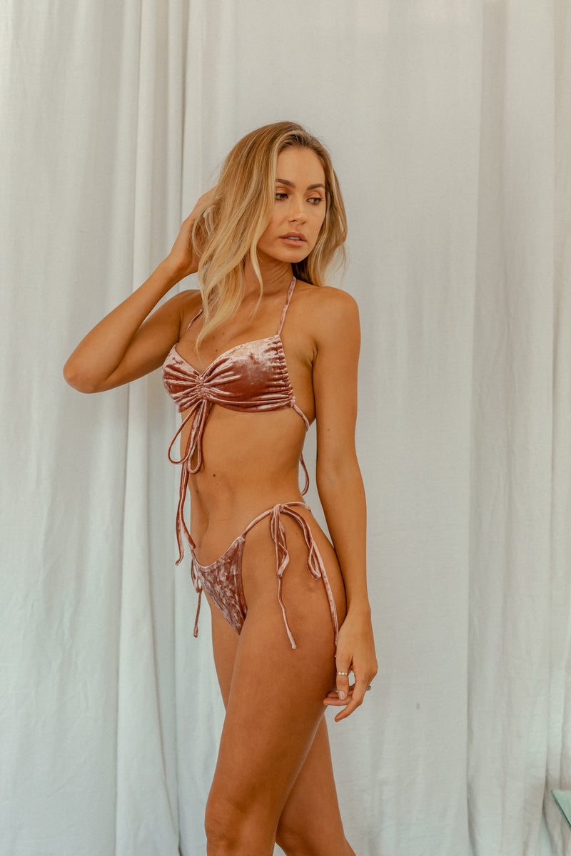 Airlie Top - Rosé Velvet -Top- White Sands Swim by Leah Madden