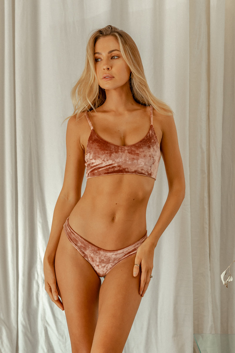 Byron Top - Rosé Velvet -Top- White Sands Swimwear by Leah Madden