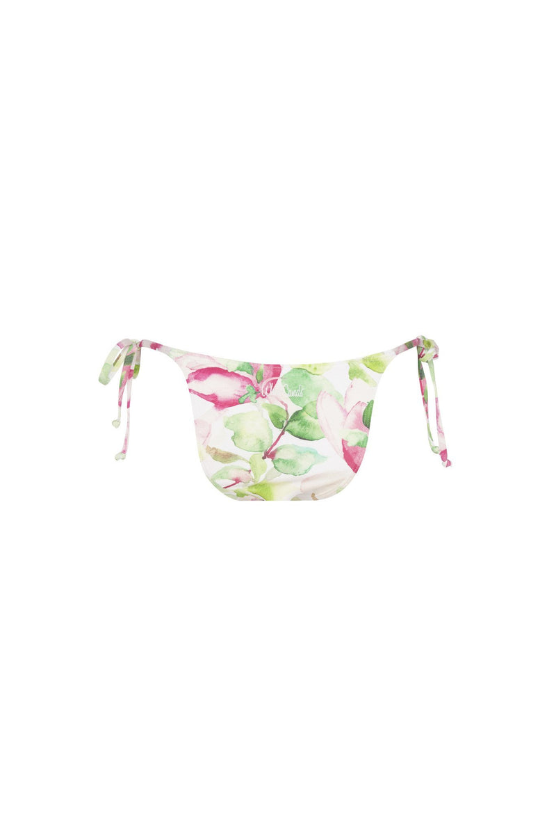 Micro Tri Pant - Waterlily Print -Bikini- White Sands Swimwear by Leah Madden
