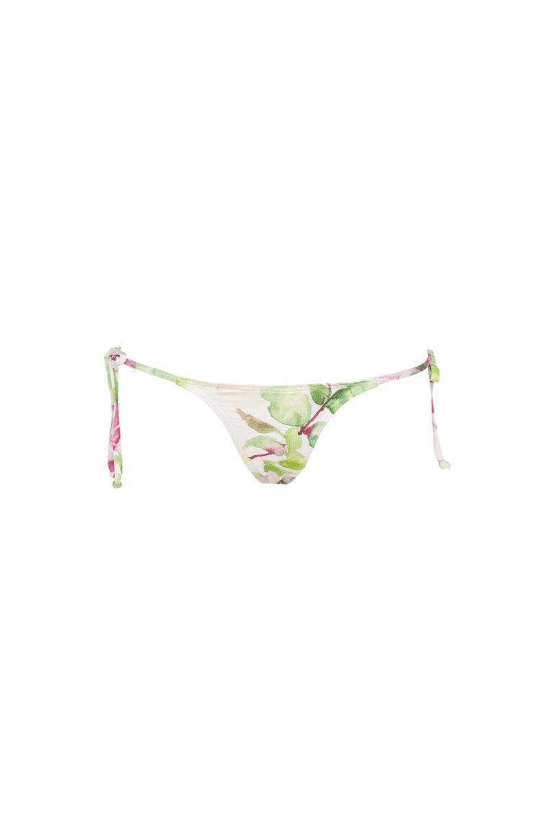 Micro Tri Pant - Waterlily Print -Bikini- White Sands Swim by Leah Madden