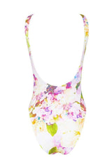 Nadia Maillot - Dripping Floral -Maillot- White Sands Swimwear by Leah Madden