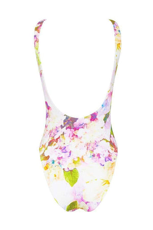 Nadia Maillot - Dripping Floral -Maillot- White Sands Swim by Leah Madden