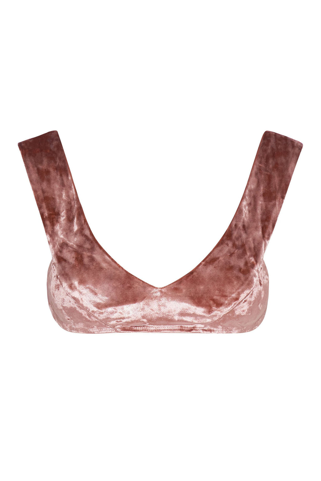 Bondi Top - Rosé Velvet -Top- White Sands Swim by Leah Madden