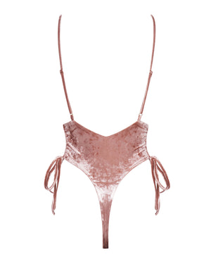 Airlie Maillot - Rosé Velvet -One Piece- White Sands Swim by Leah Madden