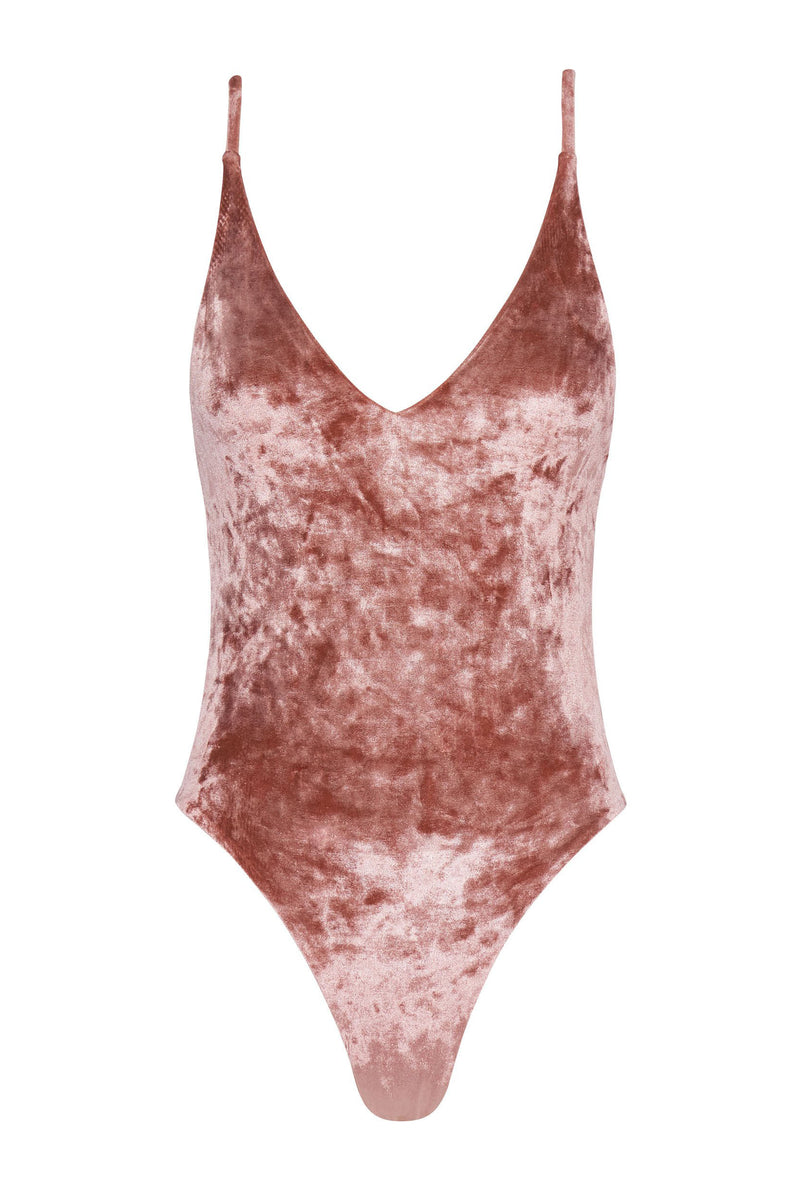 Byron Maillot - Rosé Velvet -One Piece- White Sands Swimwear by Leah Madden