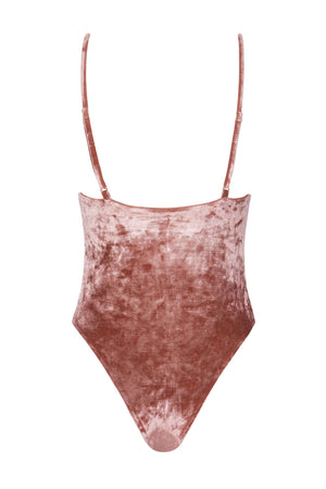 Byron Maillot - Rosé Velvet -One Piece- White Sands Swim by Leah Madden