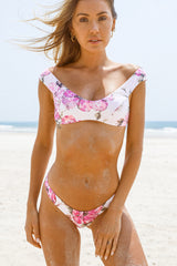 Scarlett Top - Tropical Violet -Top- White Sands Swimwear by Leah Madden