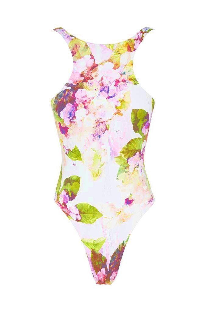 Nadia Maillot - Dripping Floral -Maillot- White Sands Australian Designer Swimwear