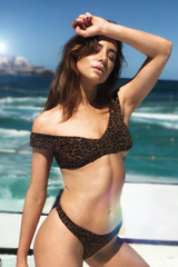 Byron Pant - Leopard -Separates- White Sands Swimwear by Leah Madden