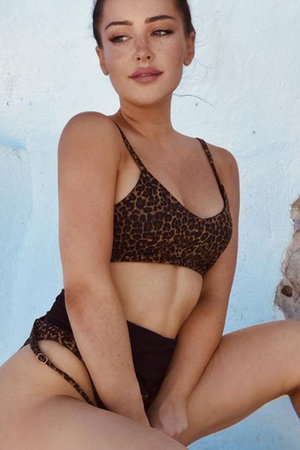 Byron Top - Leopard -Top- White Sands Swim by Leah Madden