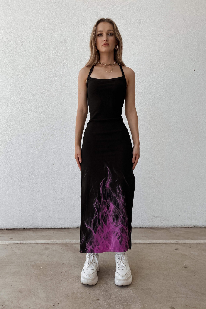 FLAMING KITTY DRESS