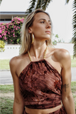 BAHAMAS SCARF TOP [BRANDY]