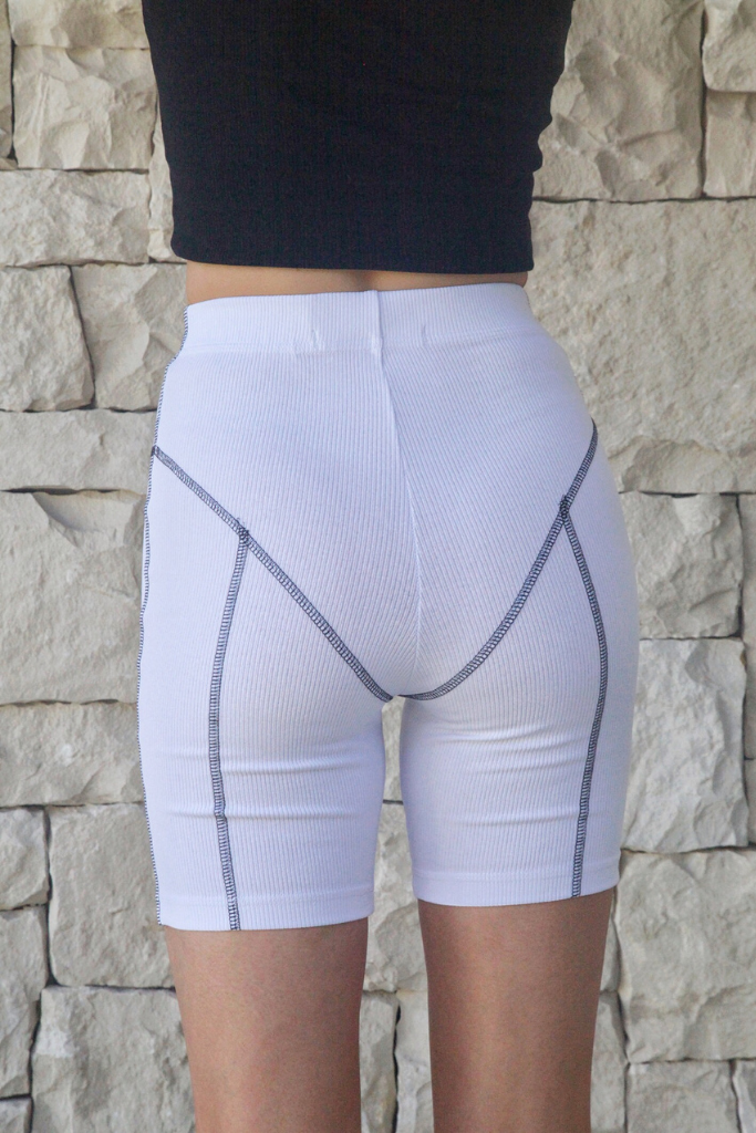 ELEMENTS BIKE SHORT [WHITE CONTRAST]