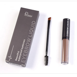 Pudaier Eyebrow Liquid Long Lasting Pigments Black Brown Waterproof 4.5ml
