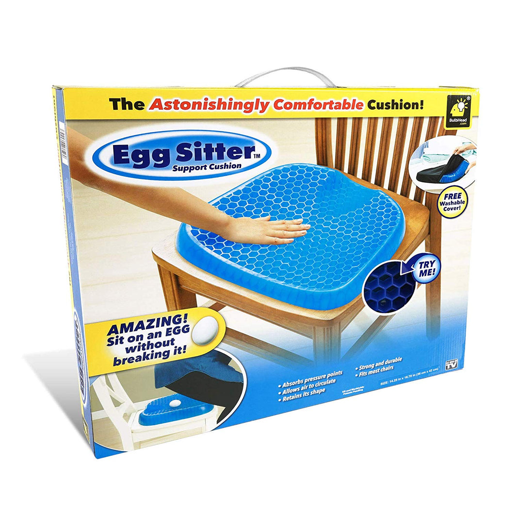 EGG SITTER SEAT CUSHION WITH NON-SLIP COVER