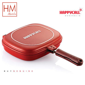 High quality Happy Call Big Size Non-stick Fryer Pan Double Side Grill