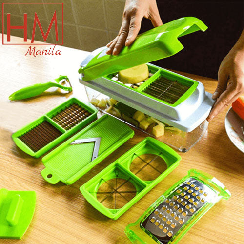 Nicer Dicer Plus by Genius | 13 pieces | Fruit vegetable slicer