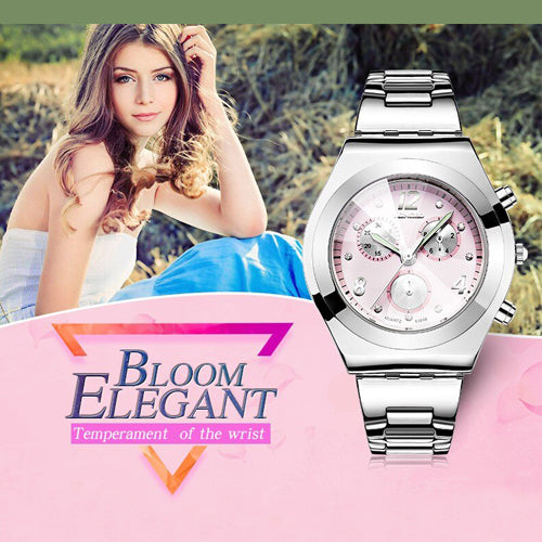 LONGBO®  ELEGANT LUXURY SILVER WATCH