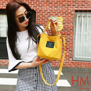 Korean Style Fashion Canvas Handbag Shoulder Bag